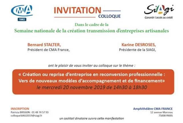 pretpro.fr intervient sur les nouveaux modèles de financement professionnel au colloque SIAGI-CMA France